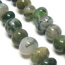 Natūralaus samaninio agato akmenukų juosta