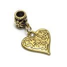 Sendinto aukso spalvos pakabutis-laikiklis su širdele