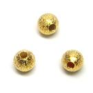 """Aukso spalvos metaliniai karoliukai """"žvaigždžių dulkės"""" 6 mm"""