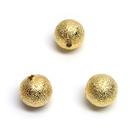 """Aukso spalvos metaliniai karoliukai """"žvaigždžių dulkės"""" 8 mm"""