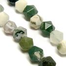 Natūralus samaninis agatas daugiakampiai akmenukai