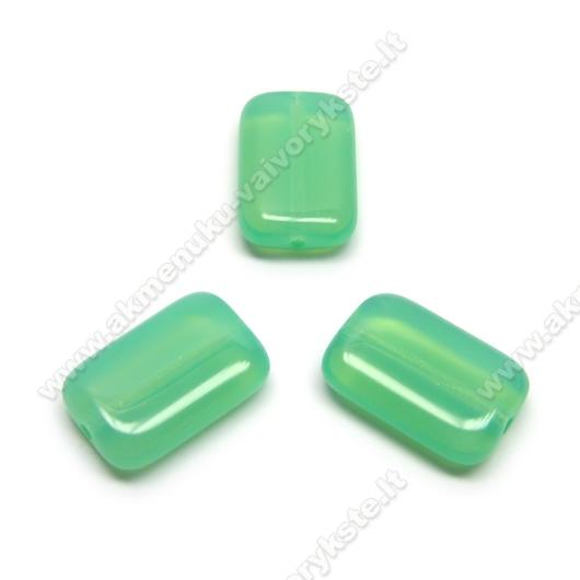 Stiklas žalios pastelinės spalvos stačiakampės pagalvėlės formos 15x10 mm