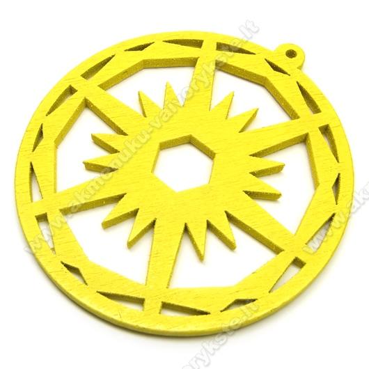 Medinis pakabukas geltonas 6 cm