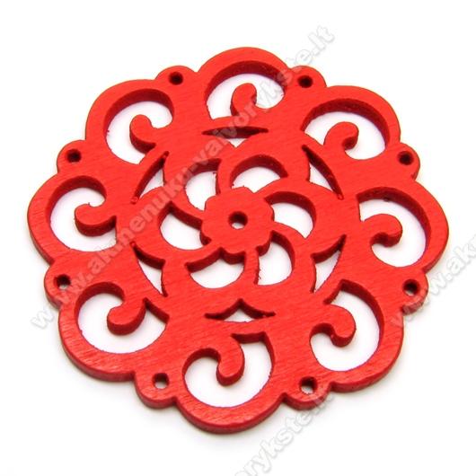 Medinis pakabukas raudonas 4,5 cm