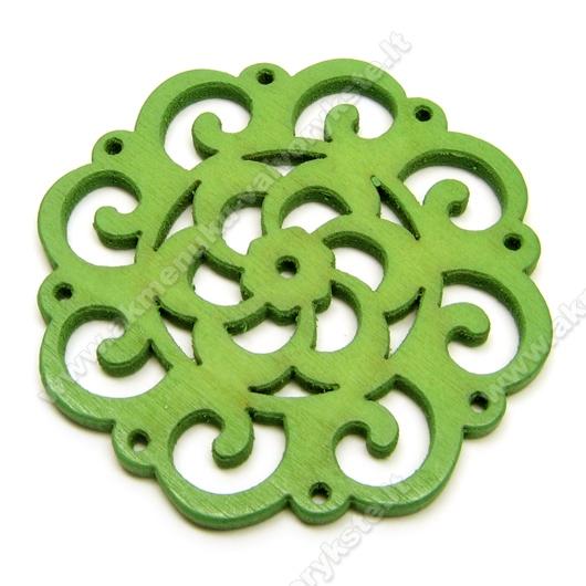 Medinis pakabukas žalias 4,5 cm
