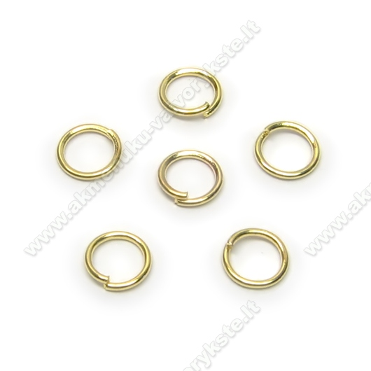 Viengubi žiedeliai aukso spalvos 6 mm - 10 vnt.