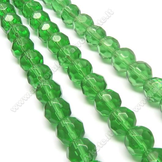 Stiklas facetuotas žalias 10 mm