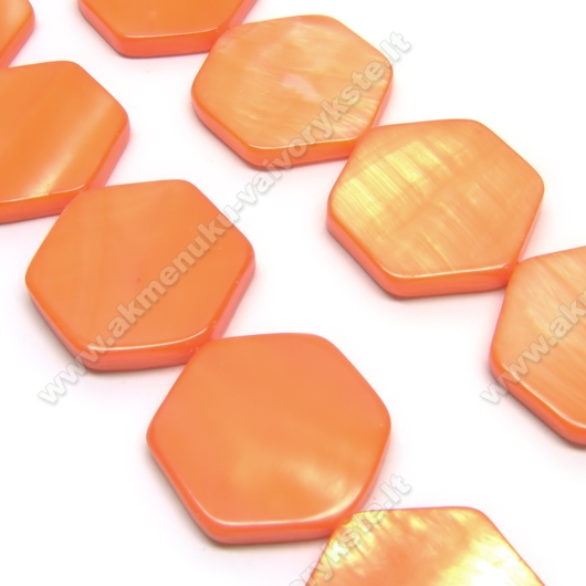 Kriauklės šešiakampiai oranžiniai 19 mm