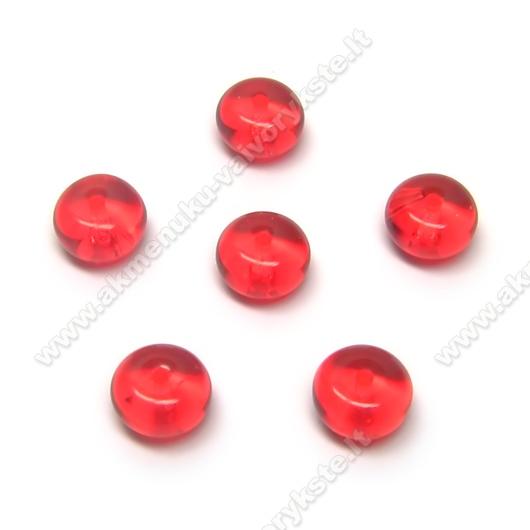 Raudono stiklo diskeliai 7x4 mm