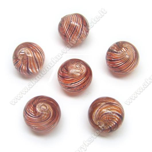 Pūstas stiklas rudas 12 mm