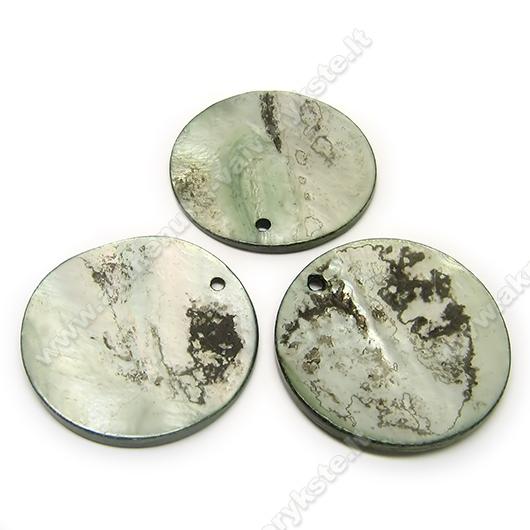 Kriauklės pakabutis disko formos 30 mm