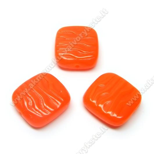 Stačiakampis stiklas oranžinis 16x15 mm