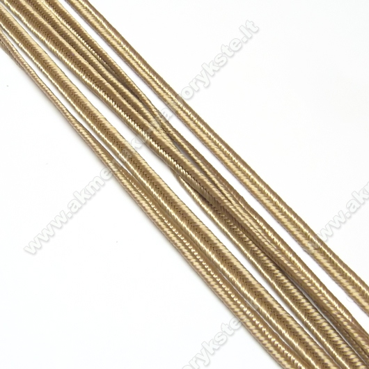 Kakavos spalvos sutažo juostelė 3 mm