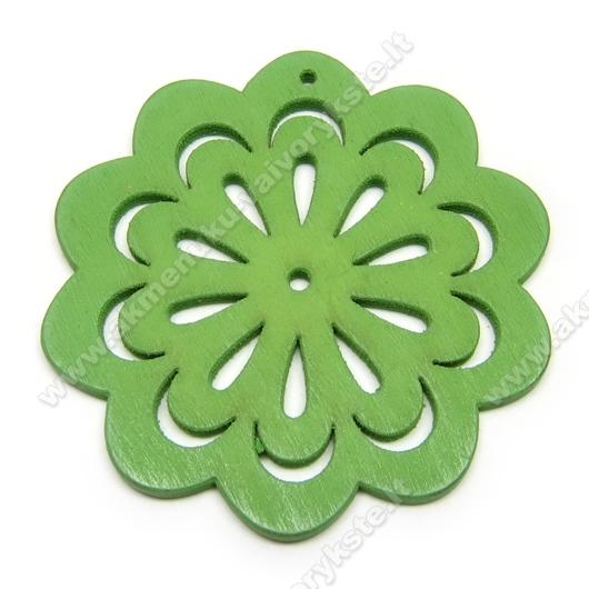 """Medinė """"gėlytė"""" žalia 4,9 cm"""
