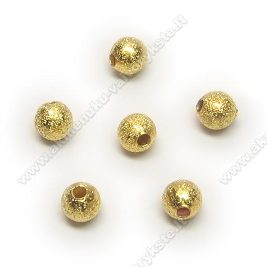"""Aukso spalvos metaliniai karoliukai """"žvaigždžių dulkės"""" 4 mm"""