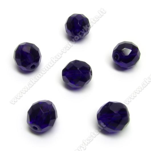 Facetuotas stiklas tamsiai violetinis 10 mm