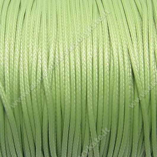Medvilninis vaškuotas troselis šviesios salotinės spalvos 1 m.