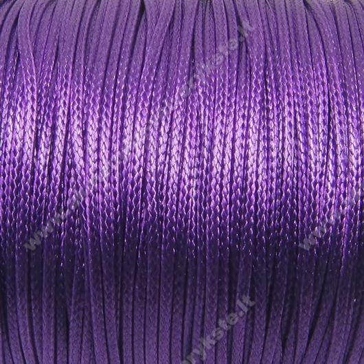 Medvilninis vaškuotas troselis violetinės spalvos 1 m.