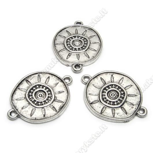 """Stambus tibeto sidabro sujungimas """"Saulutė"""" 22 mm"""