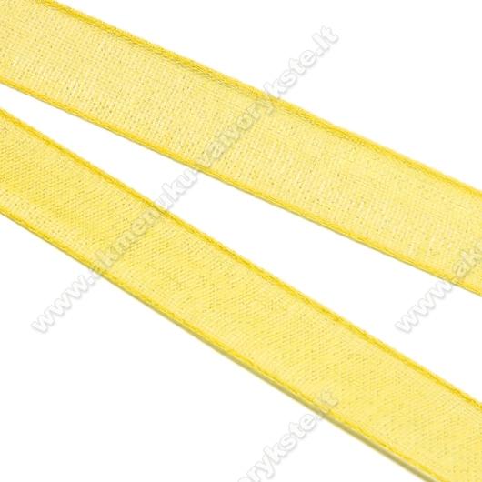 Organzos juostelė geltona 6 mm pločio