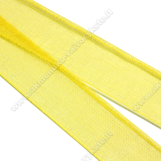 Organzos juostelė geltona 16 mm pločio