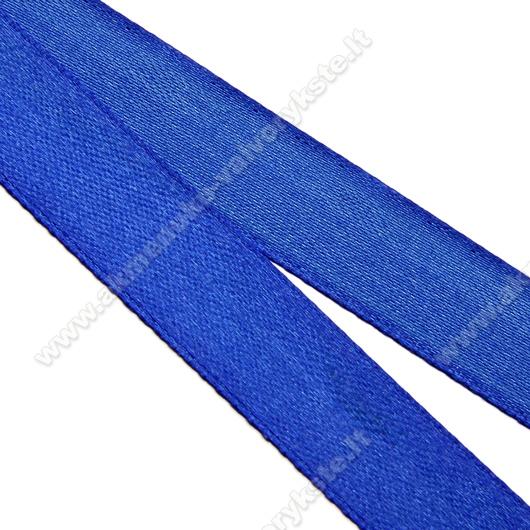 Atlasinė mėlyna juostelė 16 mm pločio