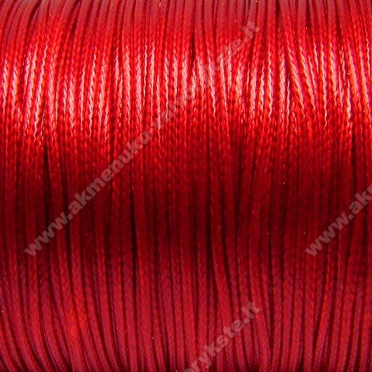Medvilninis vaškuotas troselis ryškiai raudonos spalvos 1 m.