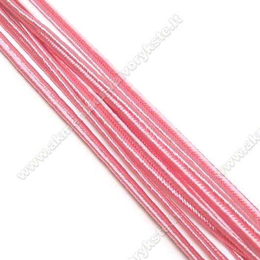 Rožinė sutažo juostelė 3 mm