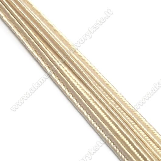 Balintos kakavos spalvos sutažo juostelė 3 mm