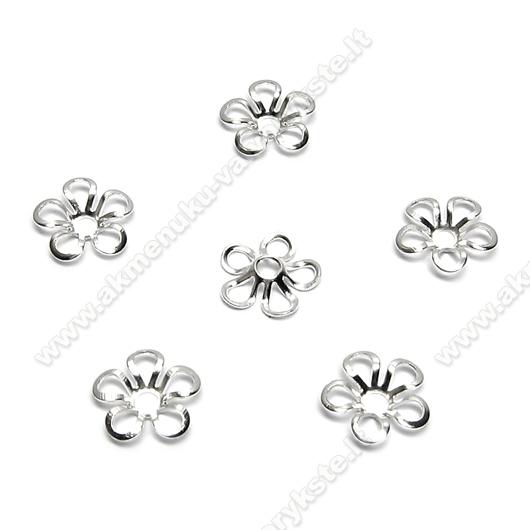 Gėlės žiedo formos pasidabruota kepurėlė