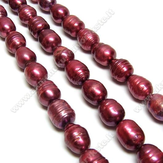 Vyšnių spalvos gėlavandenių perlų juosta