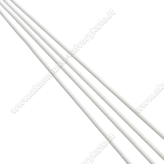 Baltos spalvos guma 1 mm storio