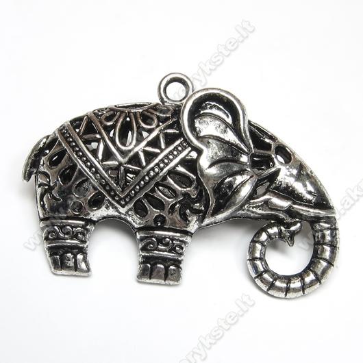 "Stambus tibeto sidabro pakabutis ""Dramblys"""