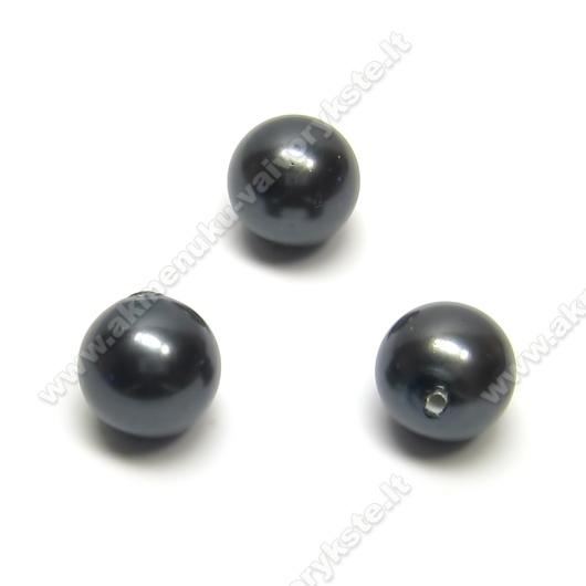 Pusiau įgręžtas kriauklės perlas 10 mm.