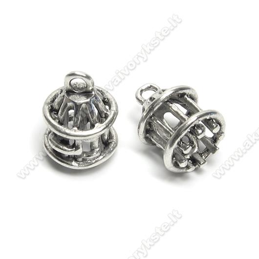 """Tibeto sidabro pakabutis-kepurėlė """"Narvelis"""""""