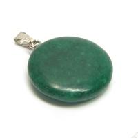 Natūralaus žadeito žalios spalvos pakabutis