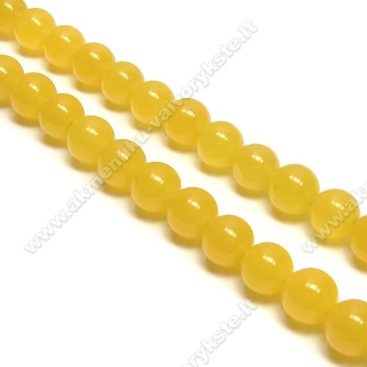 Žadeitas geltonas rutuliuko formos 8mm