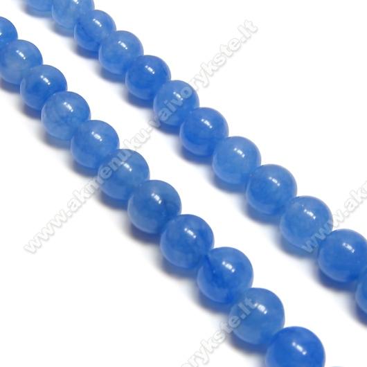 Žadeitas pastelinės mėlynos spalvos 8mm.