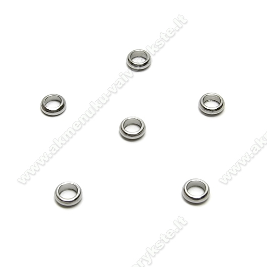 Nerūdijančio plieno intarpas-žiedelis 4 mm.