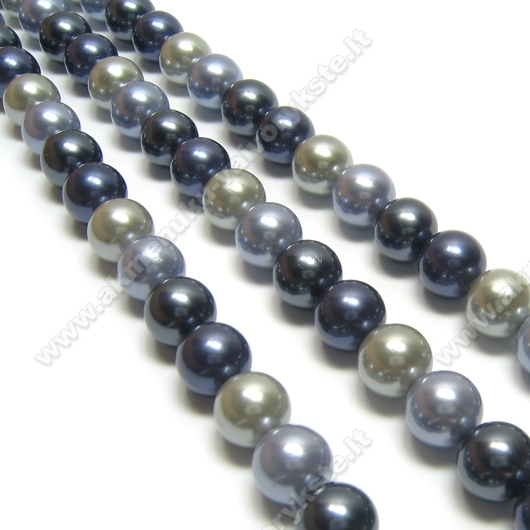 Kriauklės perlų juosta Mėlyna-pilka-melsva