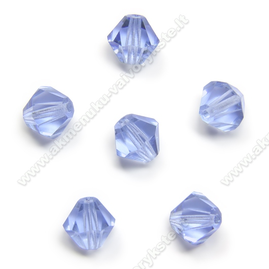 Čekiškas stiklas melsvas dvipusio konuso formos 6 mm