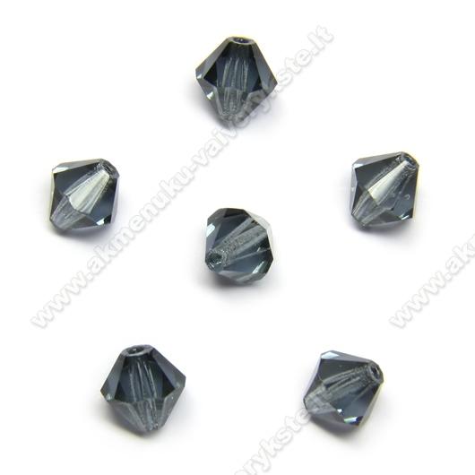 Čekiškas stiklas melsvai pilkas dvipusio konuso formos 5 mm
