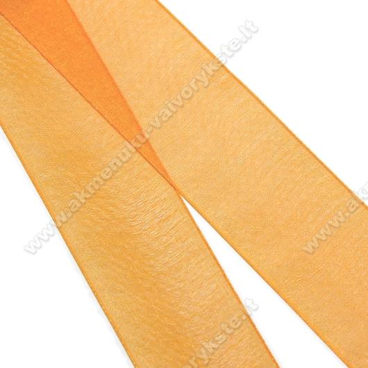 Organzos juostelė oranžinė 25 mm pločio