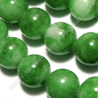 Žadeitas žalias rutuliuko formos 10mm