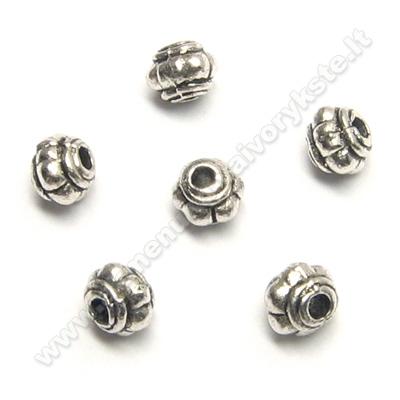 Smulkūs tibeto sidabro intarpai statinaitės formos