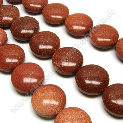 Dirbtinis Saulės akmuo disko formos 20 mm
