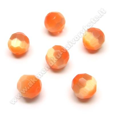 Katės akis facetuota oranžinė 12 mm