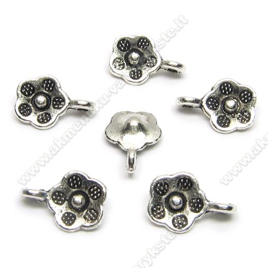 Tibeto sidabro pakabutis gėlytės formos 9 mm