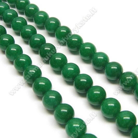 Žadeitas tamsiai žalias apvalus 8 mm
