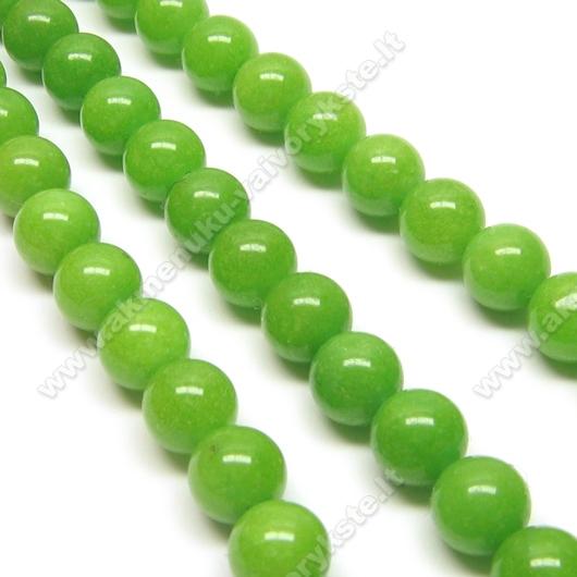Žadeitas žalias apvalus 8 mm